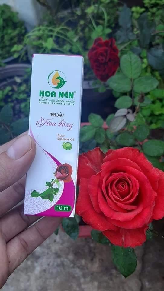 Tinh dầu hoa hồng Hoa Nén 10ml