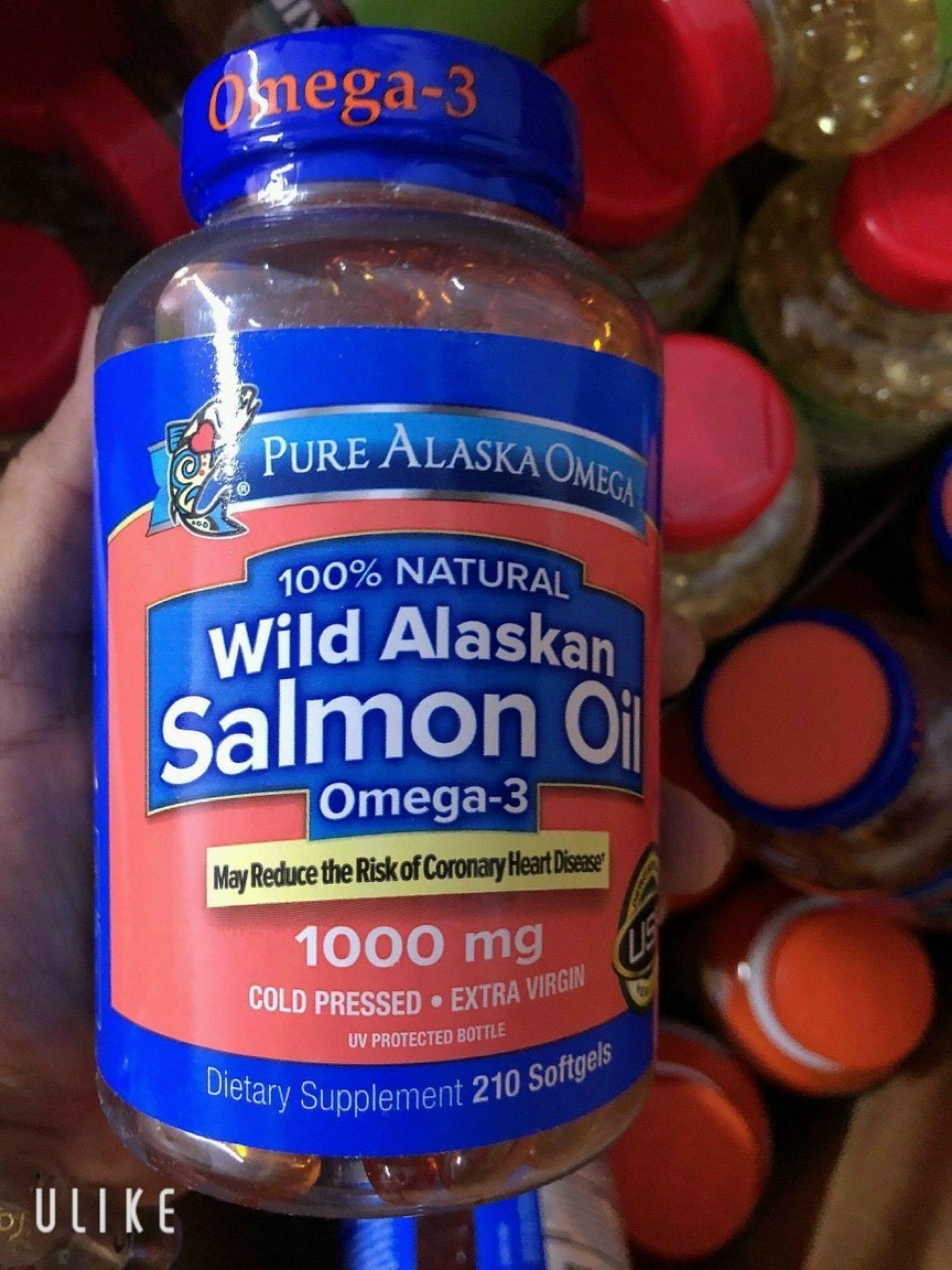 DẦU CÁ HỒI CỦA Mỹ PURE ALASKAN OMEGA™ WILD SALMON OIL 1000mg 210v