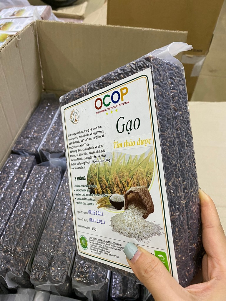 Gạo tím thảo dược 1 kg